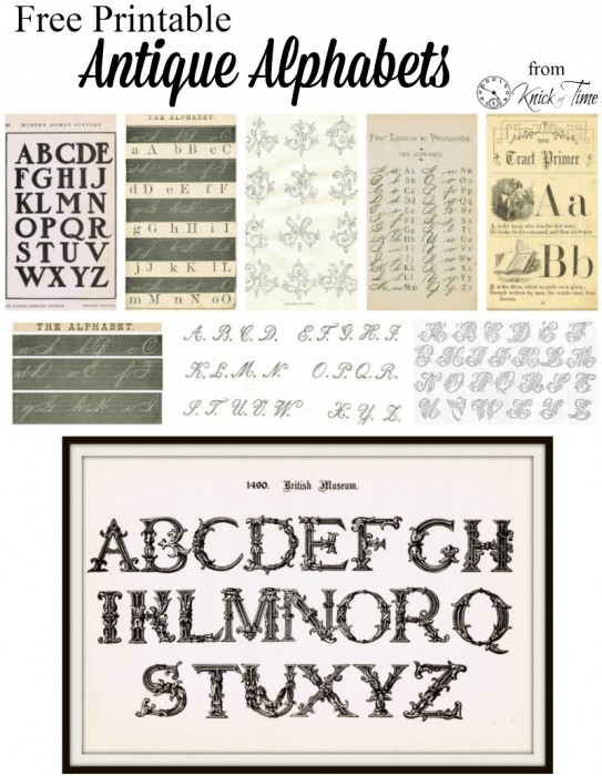 Antique Alphabet Printables