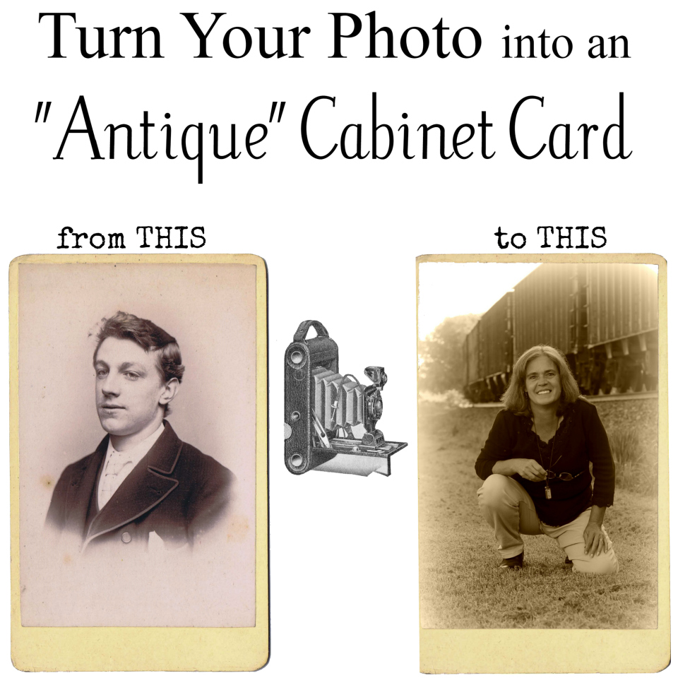 Antique Photo Cabinet Card DIY
