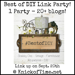 Best of DIY Link Party at Knick of Time