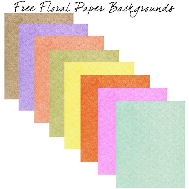 Floral Paper Printables