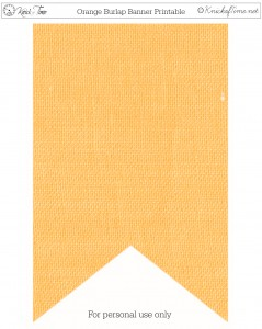Burlap Banner Printable Orange