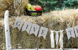 Rustic Burlap Banner Printables & a Horse Buggy Shaft