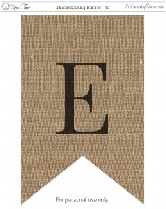 Burlap Thanksgiving Banner Printable