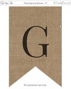 Burlap Thanksgiving Banner Printable G