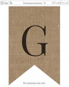 Burlap Thanksgiving Banner Printable G
