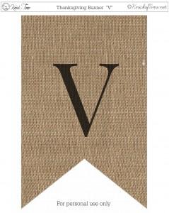 Burlap Thanksgiving Banner Printable V