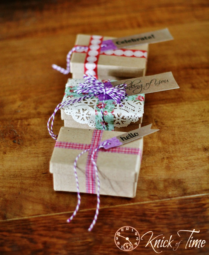 Craft Paper and Vintage Floral Paper Gift Tags