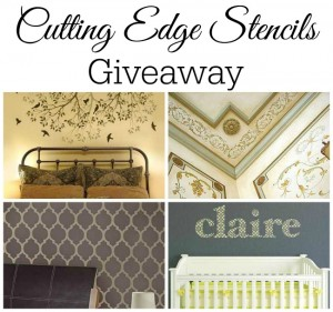 Cutting Edge Stencils Giveaway