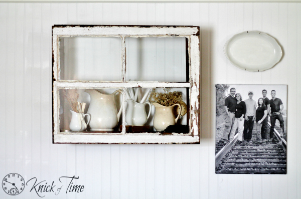 Repurposed Window Shelf by Knick of Time