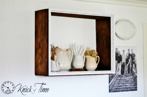 DIY Rustic Display Shelf by Knick of Time