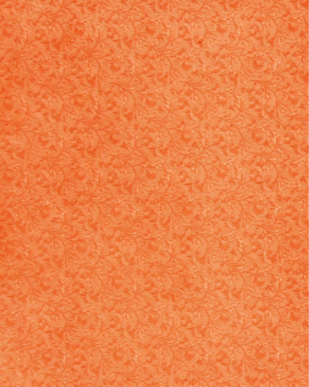 Floral Paper Orange