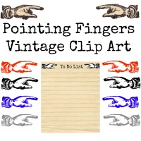 Pointing Fingers Vintage Clip Art from Knick of Time
