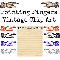 Vintage Clip Art – Pointing Fingers & a BIG Announcement!