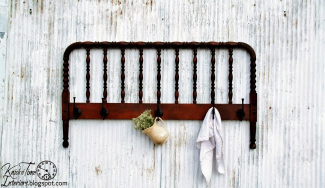 Repurposed Bed Frame Coat Rack Quot It Is Well Quot Wall Cubbies