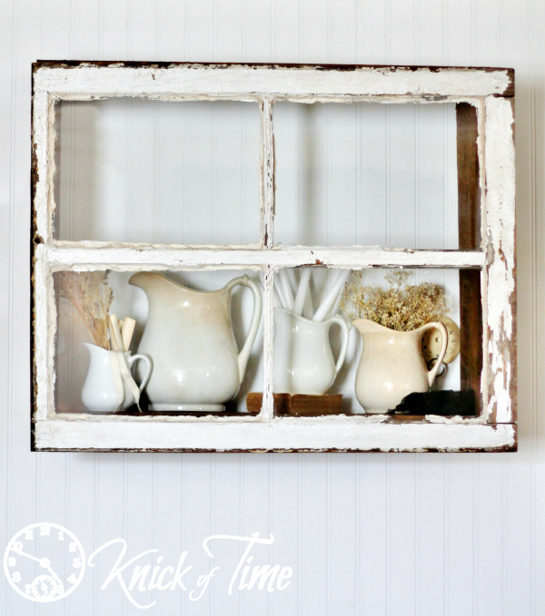 Repurposed Window Display Shelf by Knick of Time