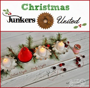 Repurposed Christmas Candle Holder Centerpieces & Link Party!