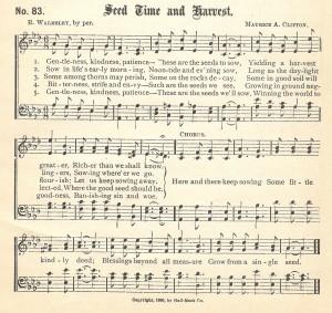 Free Printabe Seedtime & Harvest Music Page