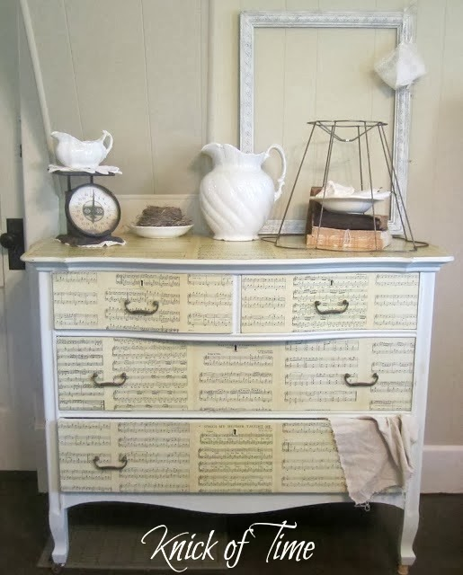 Sheet Music Dresser by Knick of Time