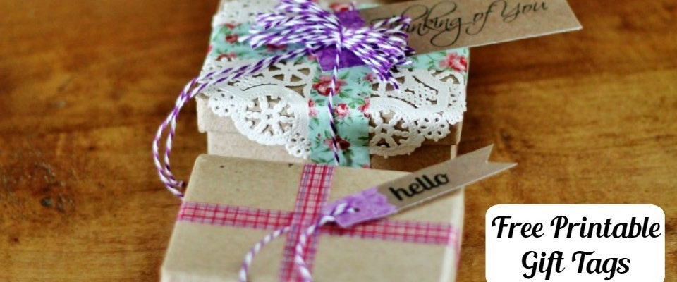 Vintage Floral Paper Gift Tags