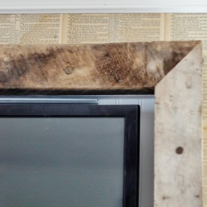 "making the ""beast"" blend in – a rustic tv frame"