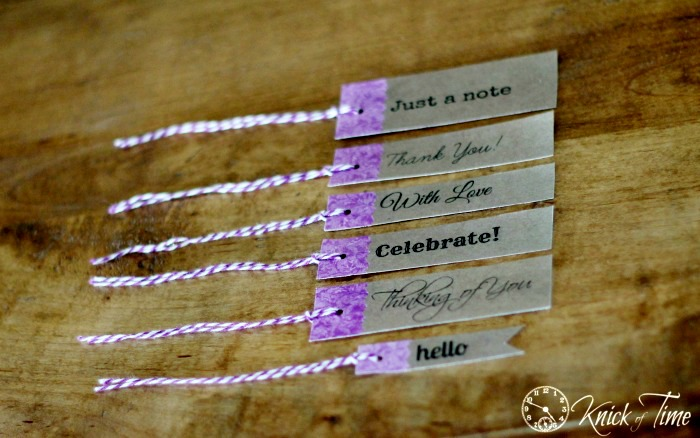 Vintage Style Gift Tags from Knick of Time