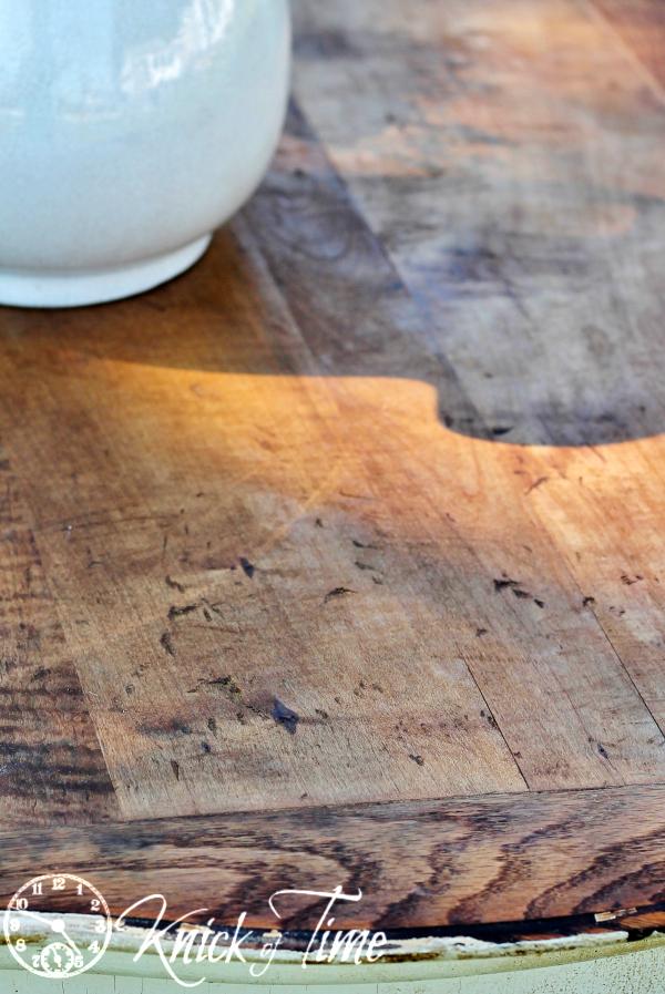 distressed wood dresser