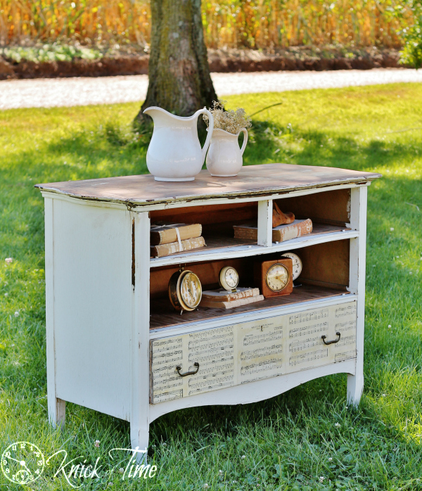 repurposed dresser entertainment center
