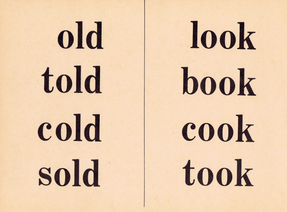 vintage school flash card