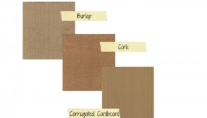 Burlap, Cork & Cardboard Texture Background Printables