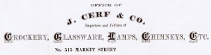 antique business document letterhead