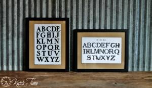 Alphabet Framed Art
