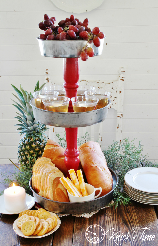 Tiered Serving Stand Holiday Christmas Buffet