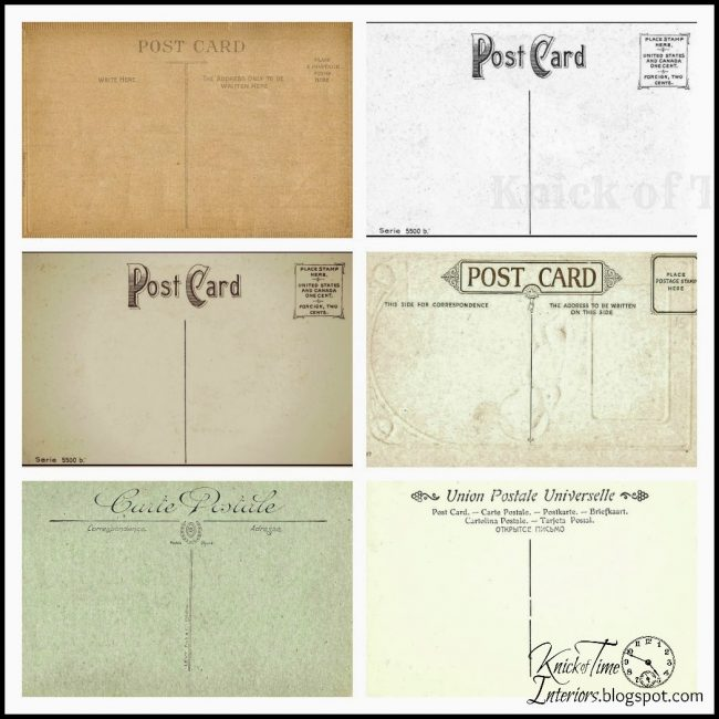 free antique postcard printables - www.knickoftime.net