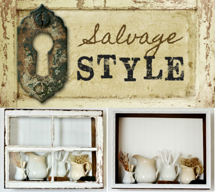 Salvaged Wood Display Shelf Shadow Box