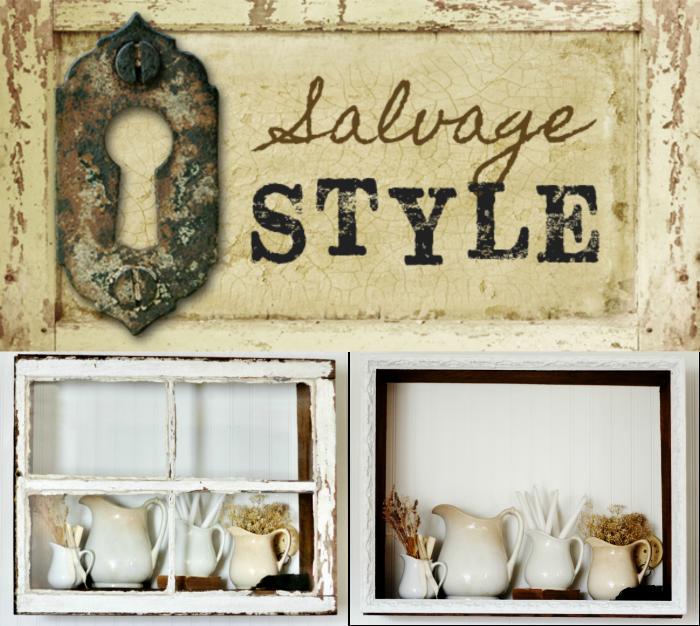 Salvaged Wood Display Shelf Shadow Box