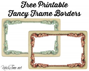 Valentine's Day and Baby Shower Fancy Vintage Frame Printables