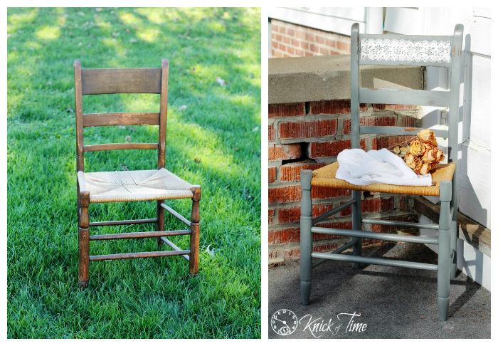 ladder back chair before and after