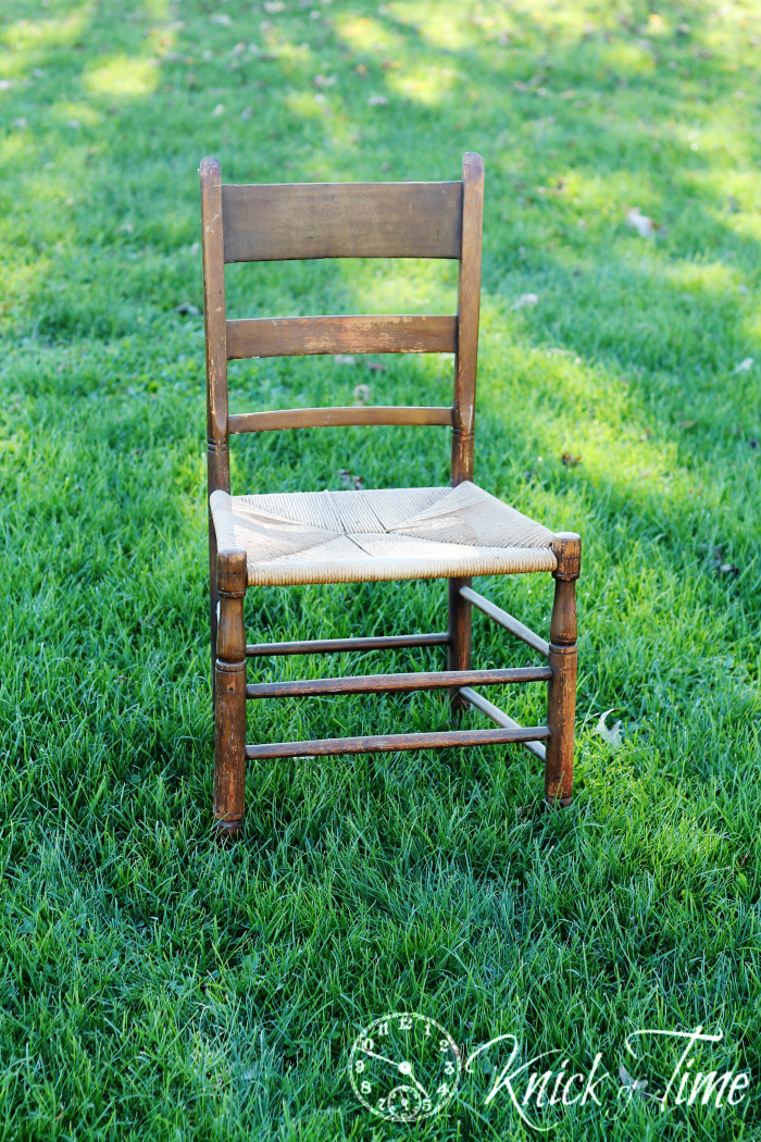 ladder back chair woven seat
