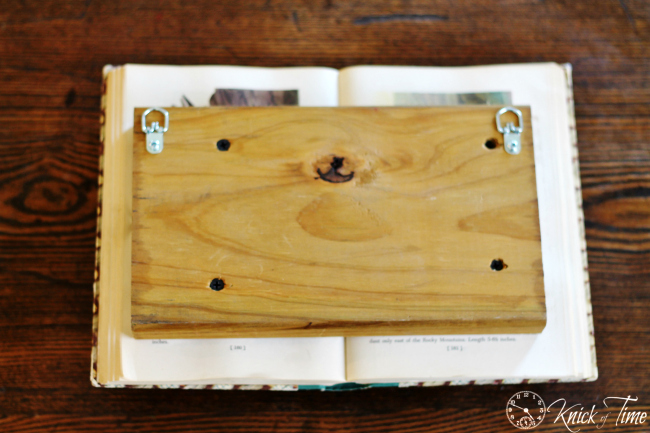 salvaged book wall hook how to