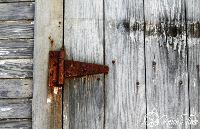 rusty hinge on old door