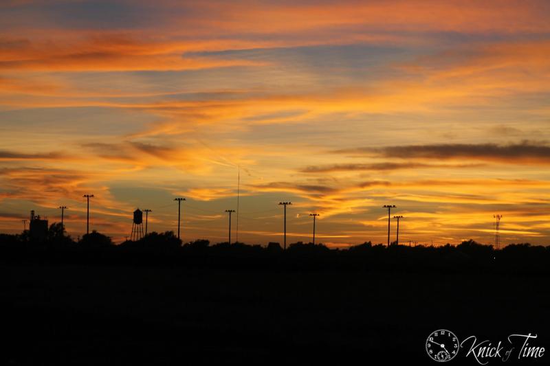 Texas sky at dusk