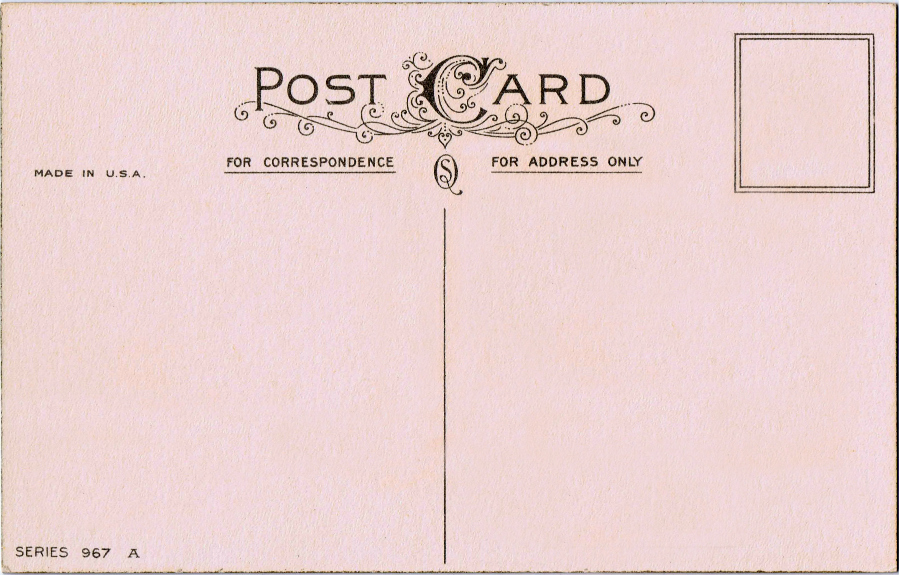 read write think postcard template - free printable vintage postcard pretty knick of time