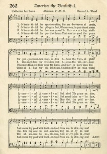 Sonday – America, the Beautiful – Antique Hymn Page Printable