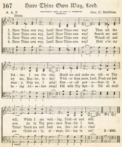 Sonday – {Have Thine Own Way, Lord} Antique Hymn Page Printable