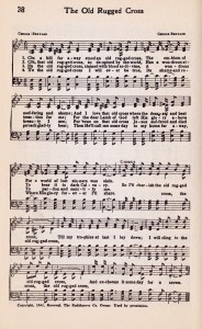 Printable Hymn Book Page – The Old Rugged Cross