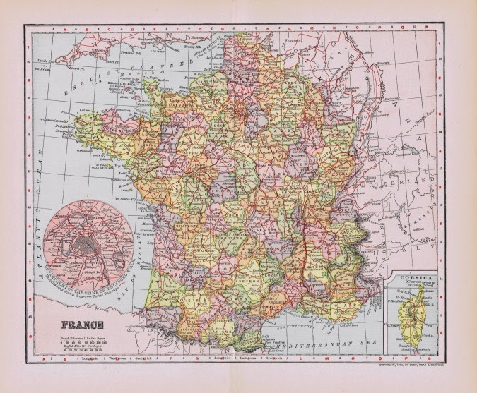 Antique Paris And France Map Printables Knick Of Time