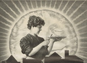 Antique Graphics Wednesday – 1906 Woman Baking Pie Advertisement