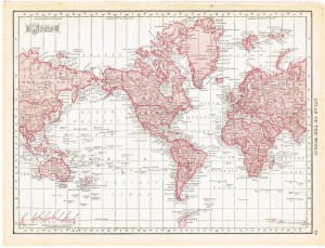 Antique Graphics Wednesday – 1900's Maps of the World & ALL 50 States!