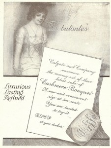 Antique Graphics Wednesday – 1912 Debutantes – Cashmere Bouquet Soap