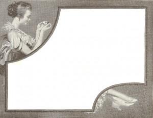 Antique Graphics Wednesday – 1912 Feminine Frame